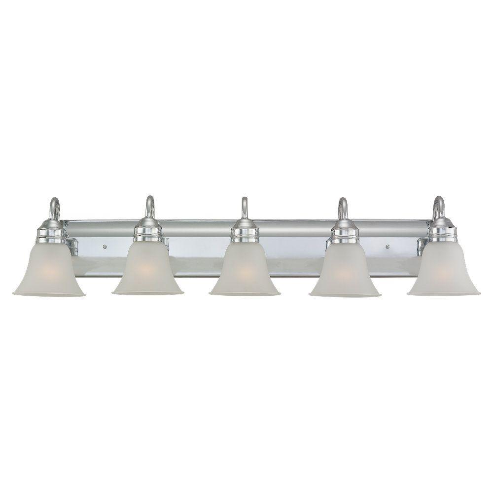 5 Light Chrome Incandescent Bathroom Vanity