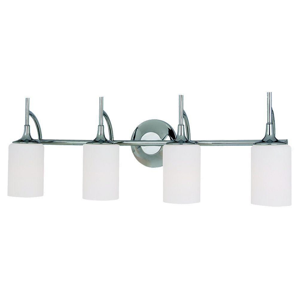 4-Light Chrome Bathroom Vanity