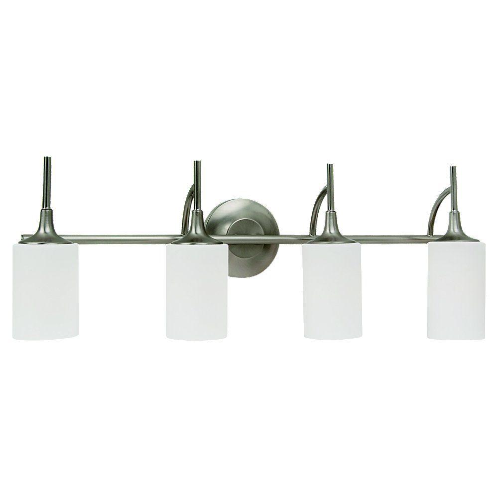 4-Light Brushed Nickel Bathroom Vanity