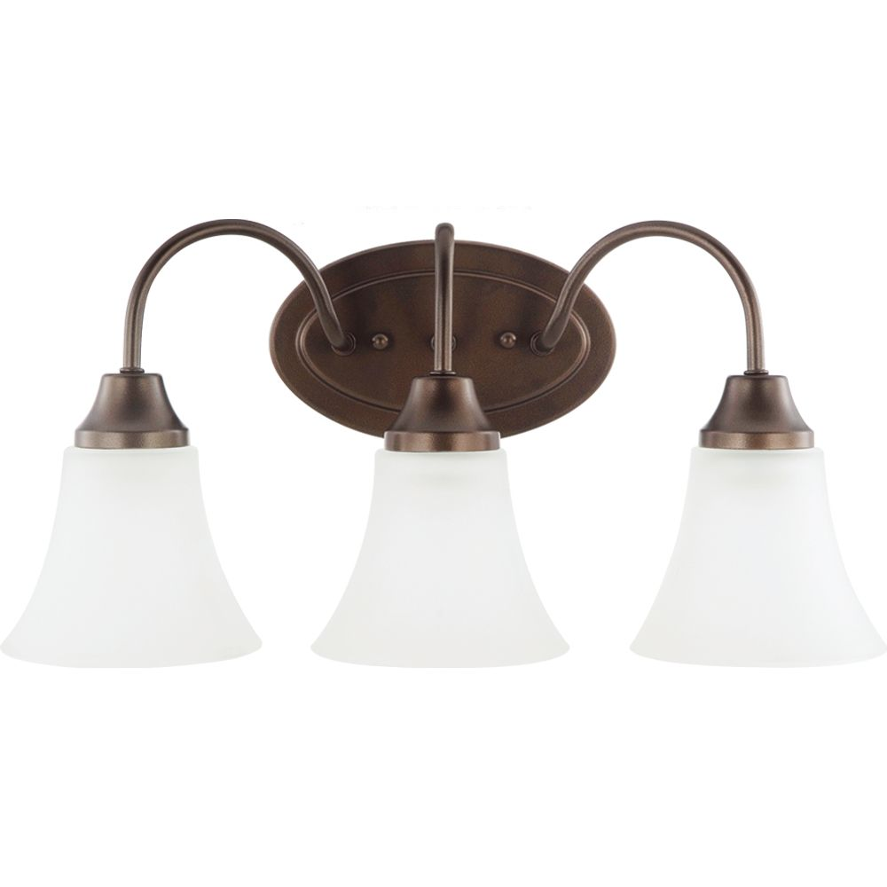3-Light Bell Metal Bronze Bathroom Vanity