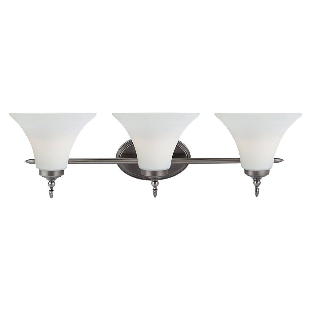 3-Light Antique Brushed Nickel Bathroom Vanity