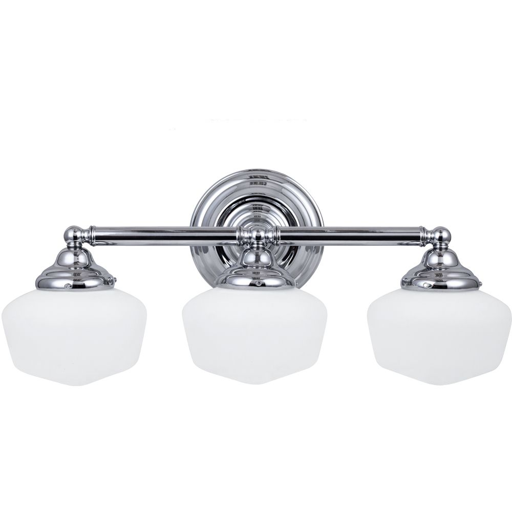 Sea Gull Lighting 3 Light Chrome Incandescent Bathroom Vanity The Home Depot Canada
