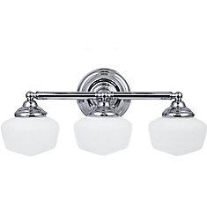 Vanity lighting the home depot canada 3 light chrome bathroom vanity aloadofball Gallery