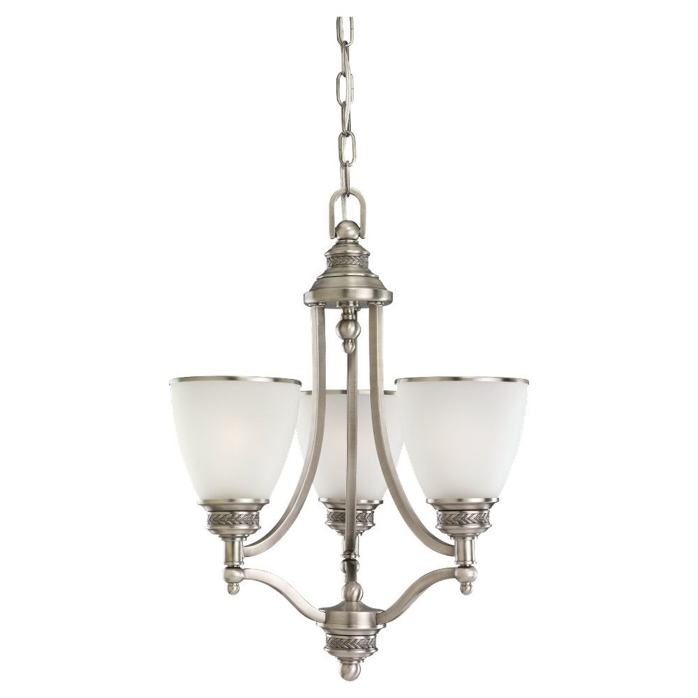 3-Light Antique Brushed Nickel Chandelier