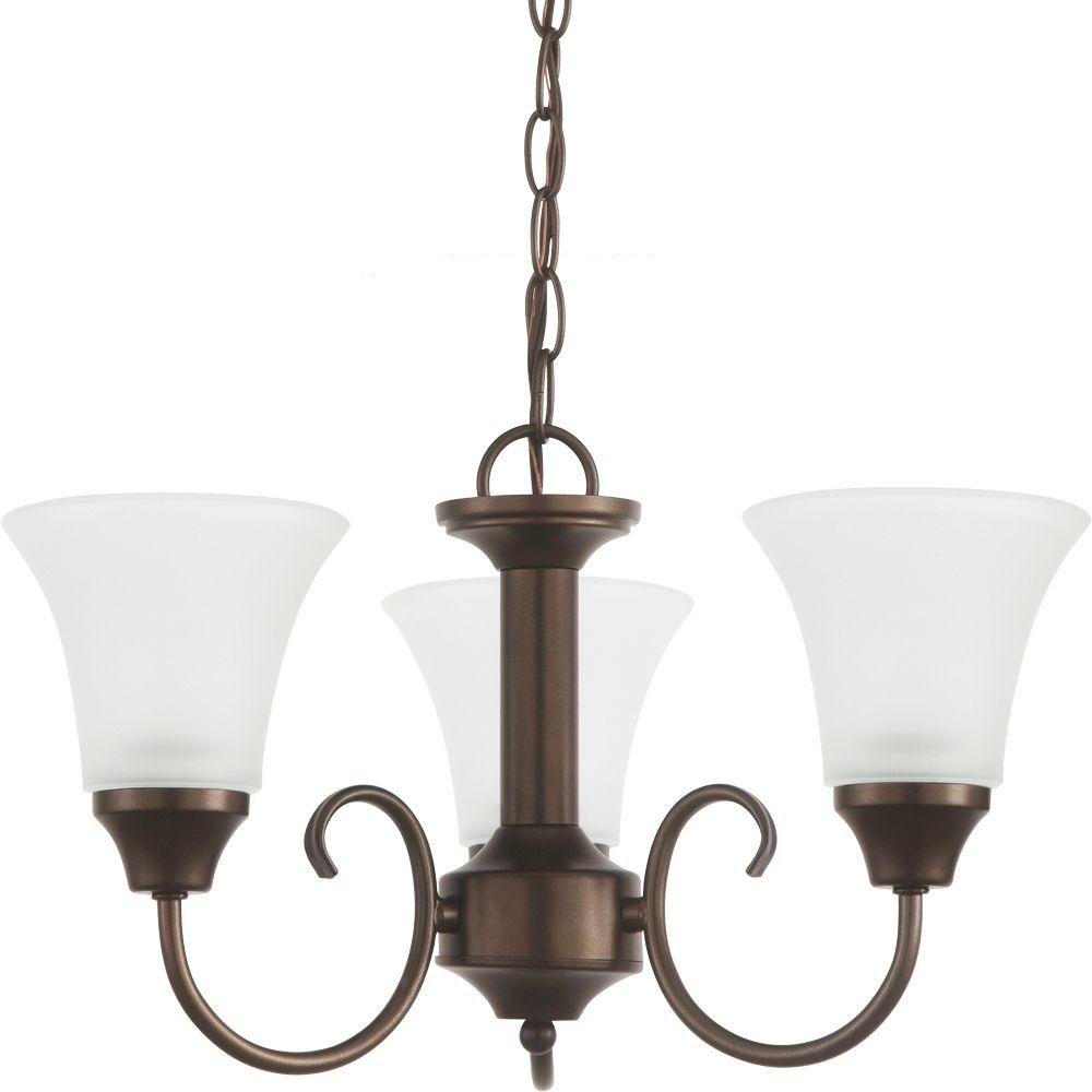 3 Light Bell Metal Bronze Chandelier