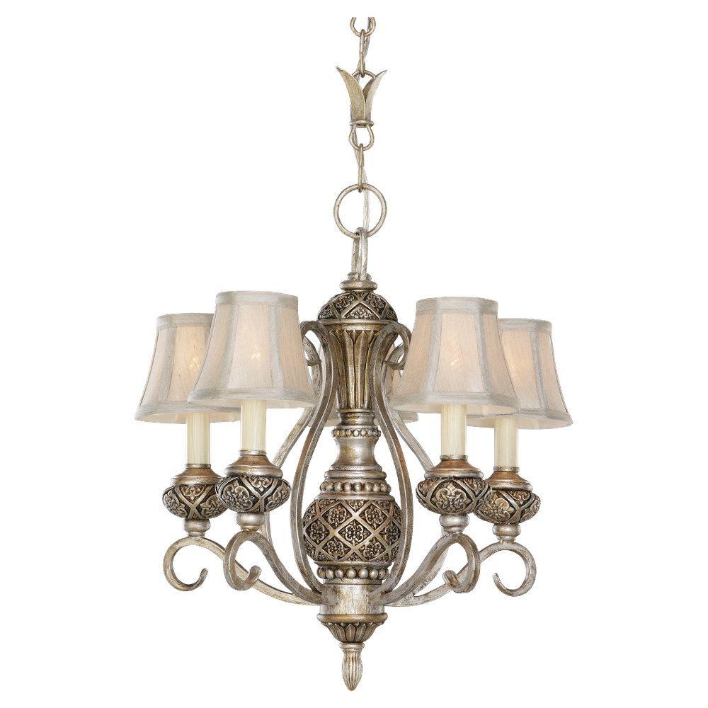 5 Light Palladium Incandescent Chandelier