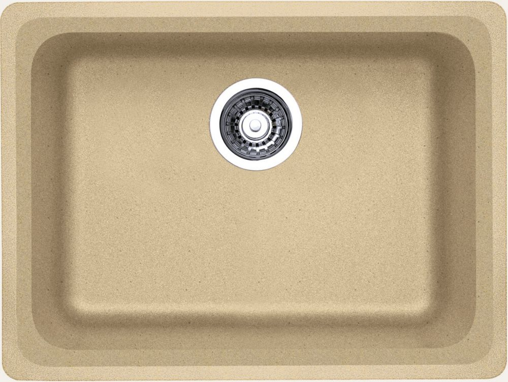 Silgranit, Natural Granite Composite Undermount Kitchen Sink, Biscotti