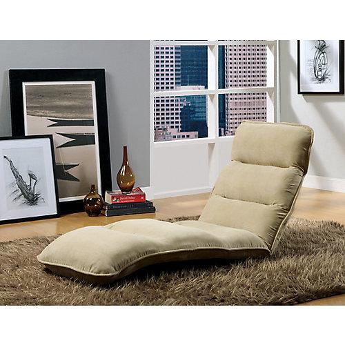 EZ Lounger Click Clack Chair - Tan Micro-Fibre