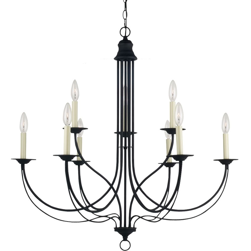 9-Light Blacksmith Chandelier