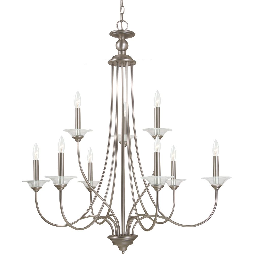 9-Light Antique Brushed Nickel Chandelier