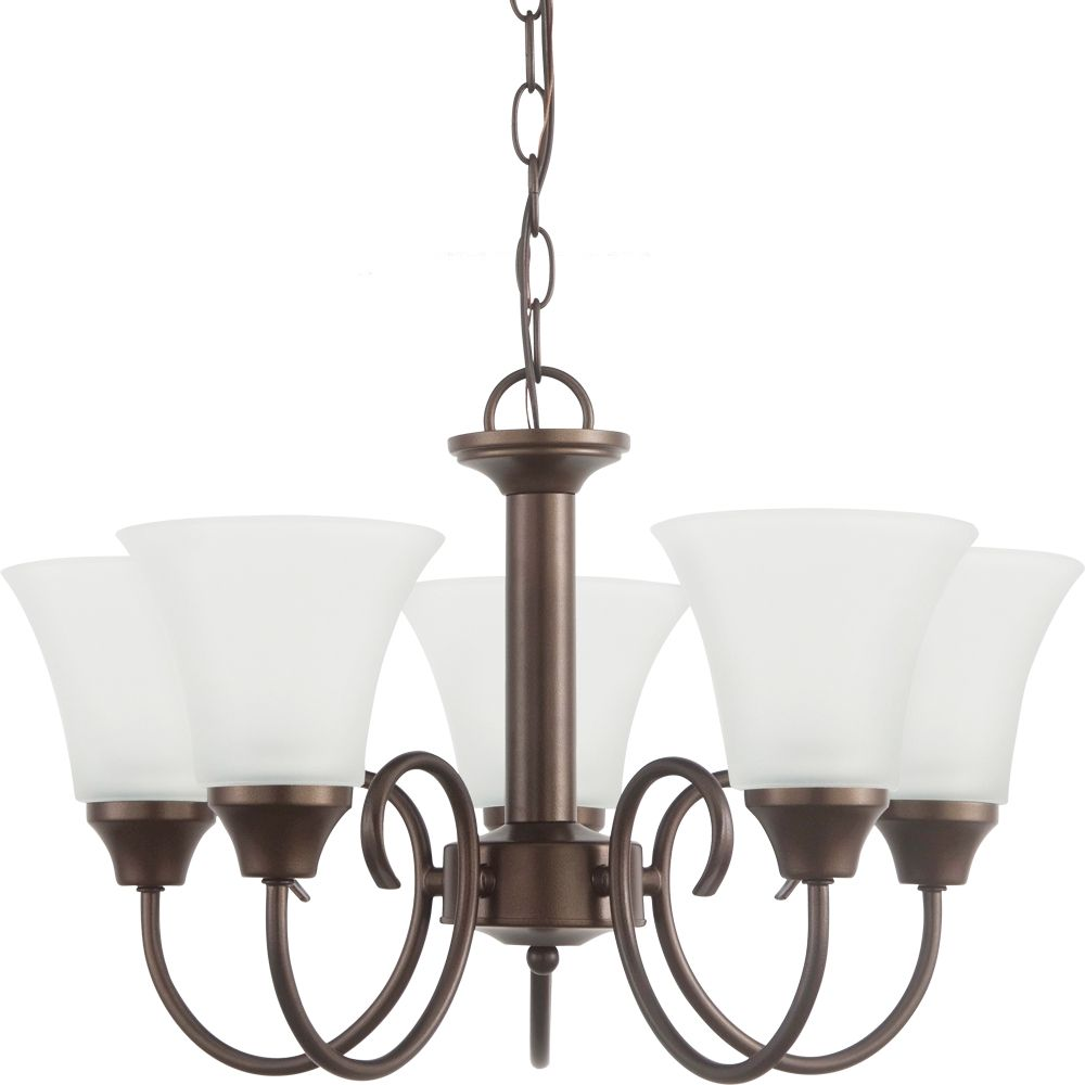 5-Light Bell Metal Bronze Chandelier