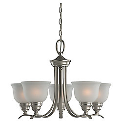 Sea Gull Lighting 5 lumières Chandelier incandescence brossé Nickel