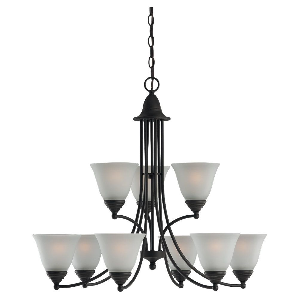 9-Light Heirloom Bronze Chandelier