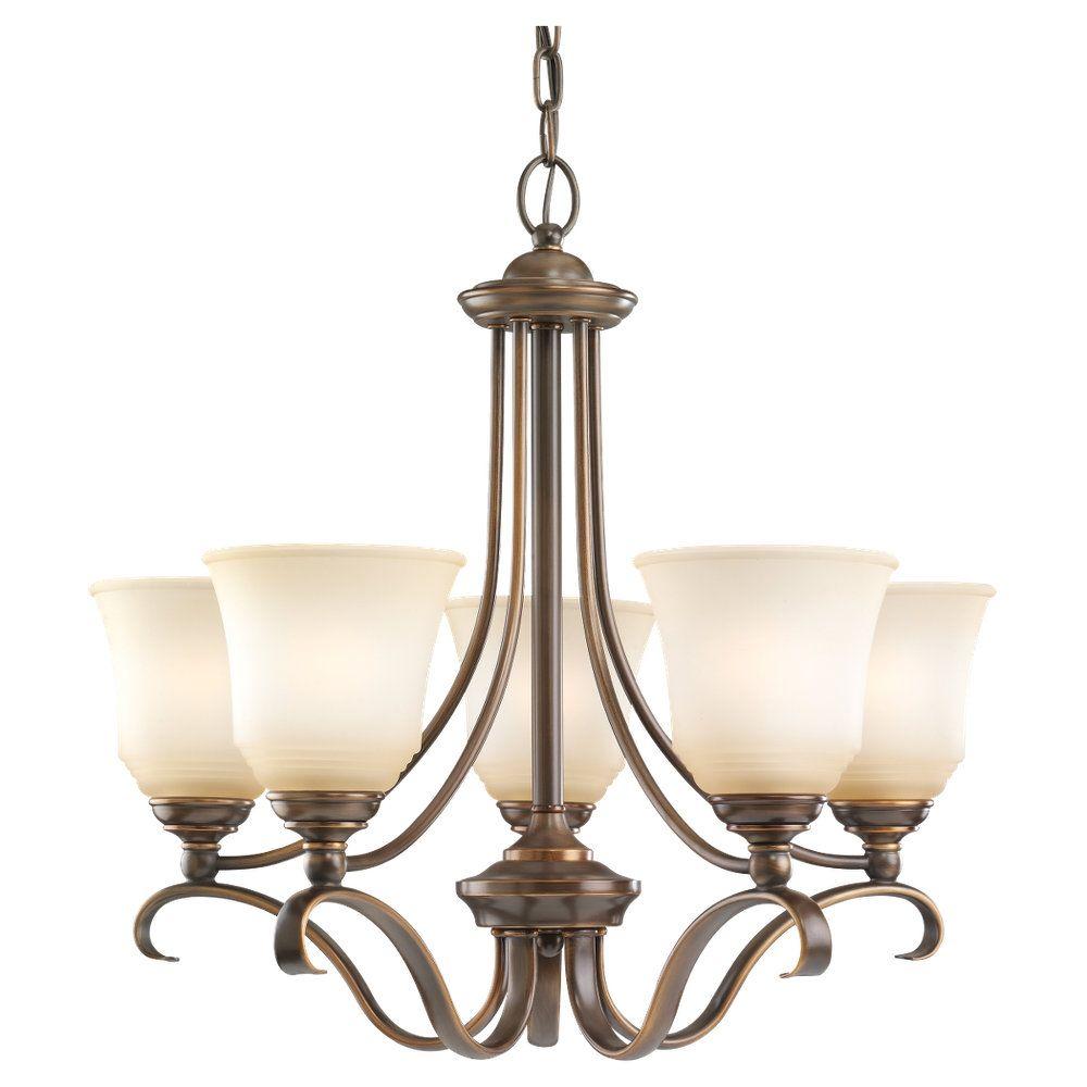 5 Light Russet Bronze Incandescent Chandelier
