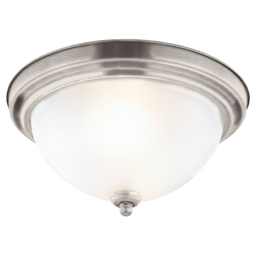 1 Light Antique Brushed Nickel Incandescent Ceiling Fixture