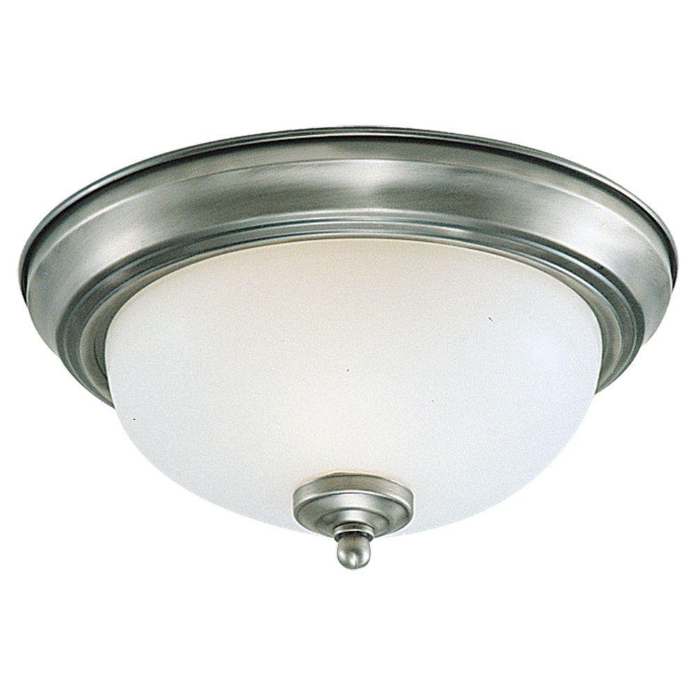 3-Light Brushed Nickel Ceiling Fixture