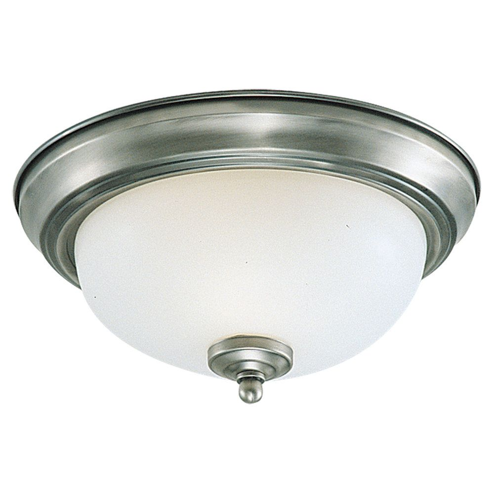 3-Light Brushed Nickel Ceiling Fixture