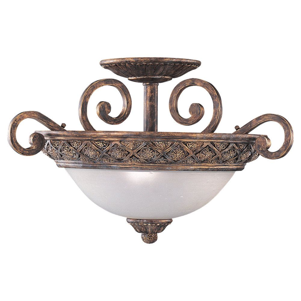 3-Light Regal Bronze Ceiling Fixture