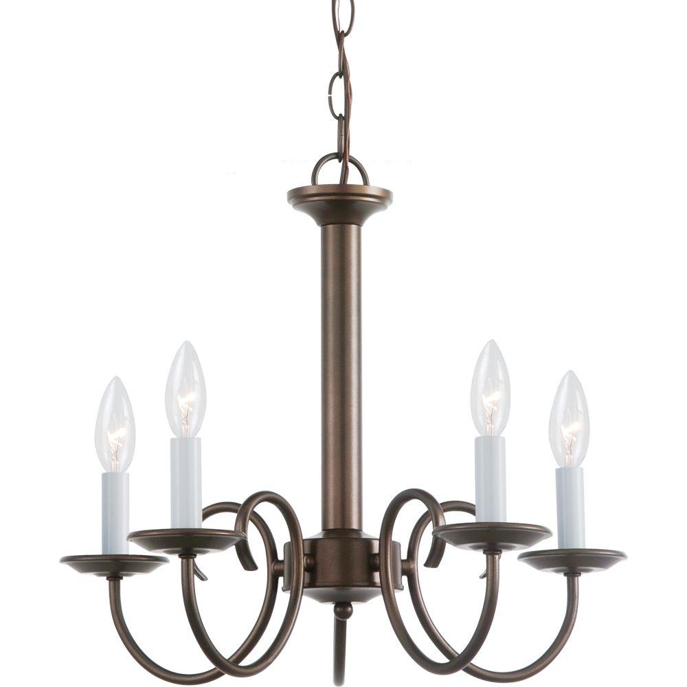 5-Light Bell Metal Bronze Chandelier