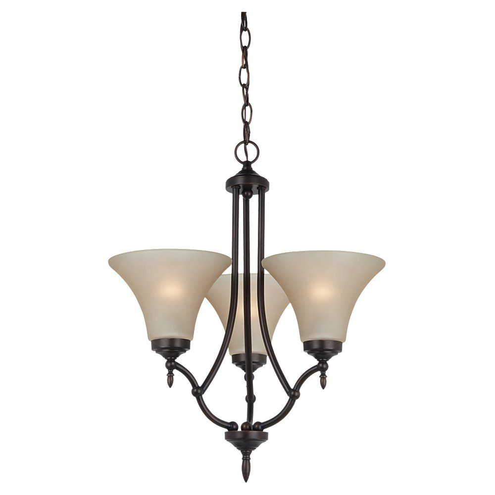 3-Light Burnt Sienna Chandelier