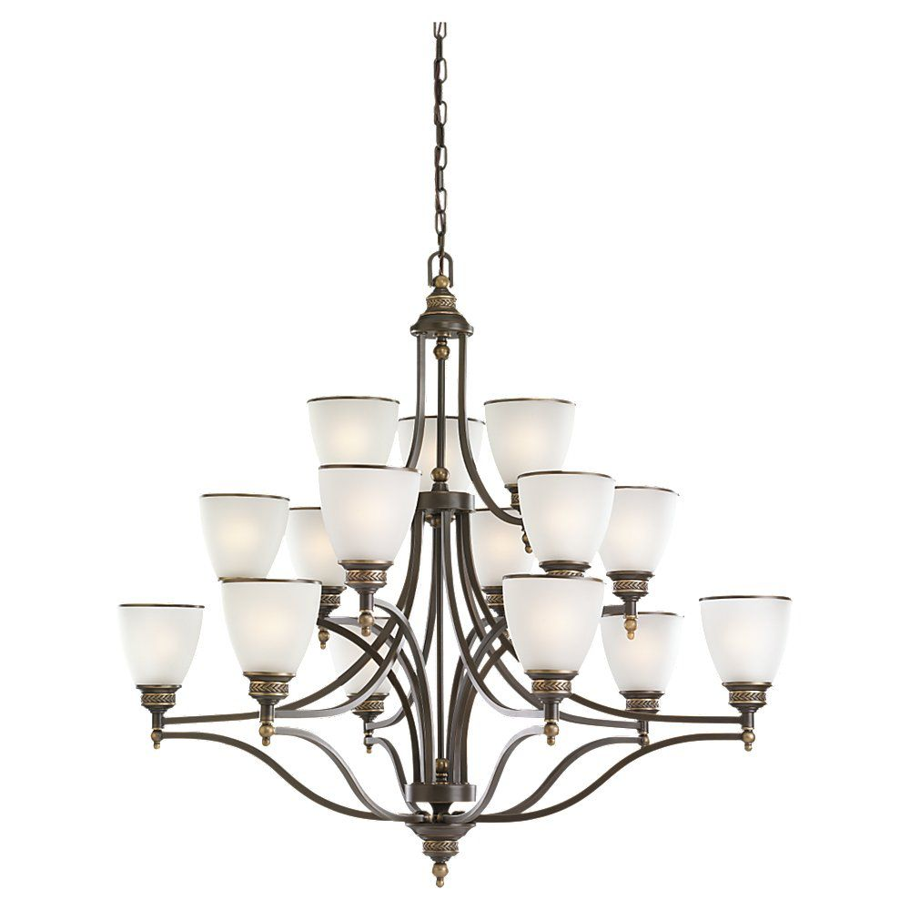15-Light Estate Bronze Chandelier