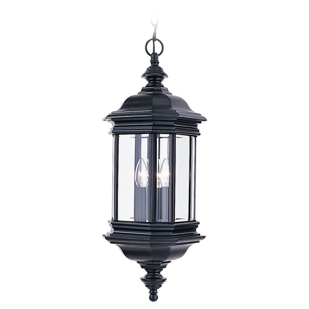 3 Light Black Incandescent Outdoor Pendant