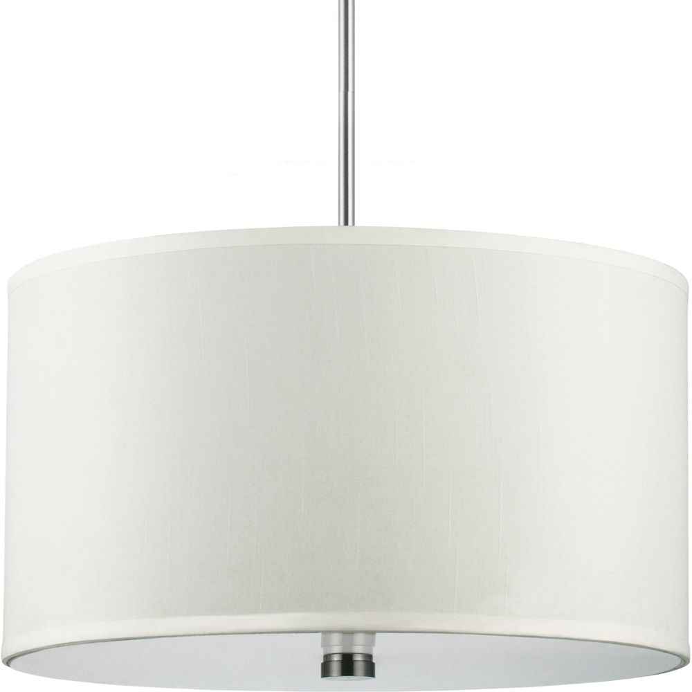 3 Light Brushed Nickel Incandescent Pendant