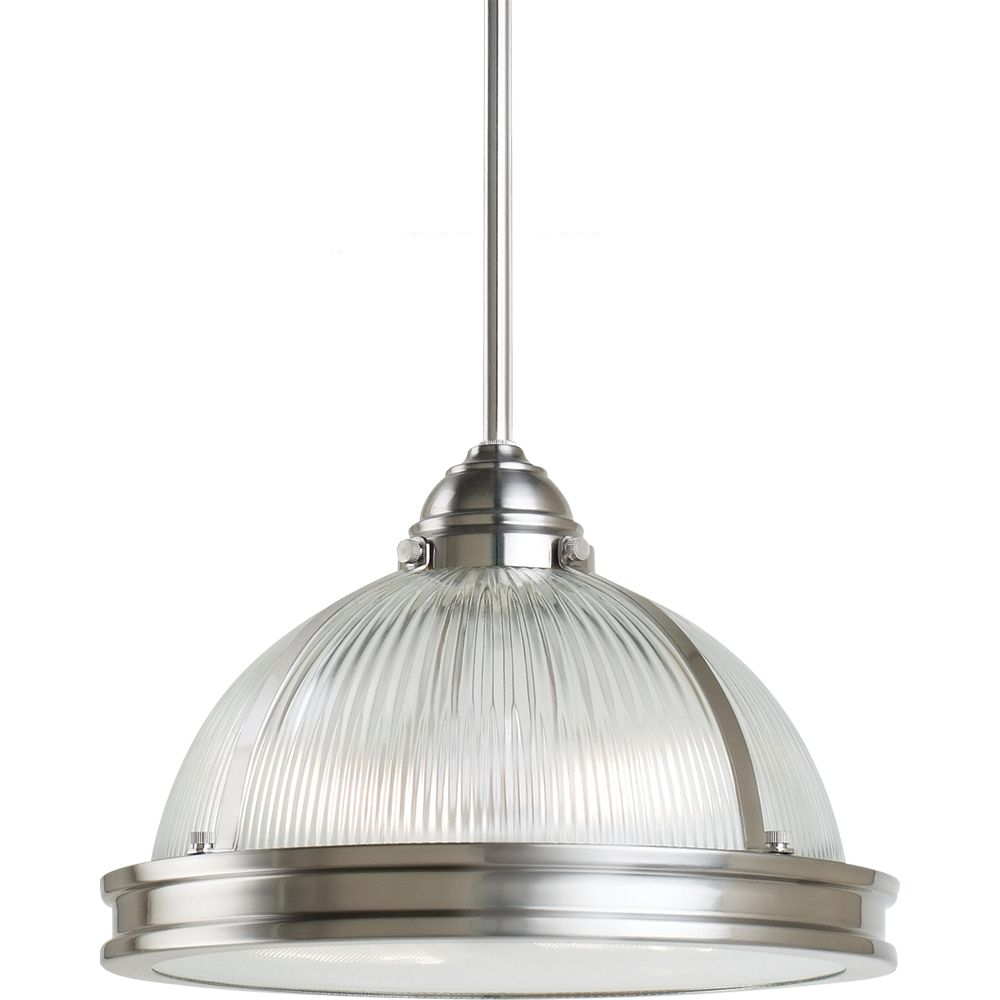 2-Light Brushed Nickel Pendant