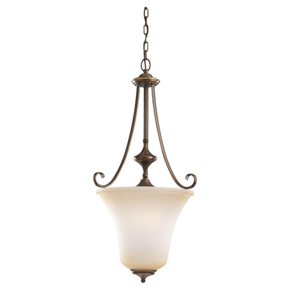 3-Light Russet Bronze Pendant