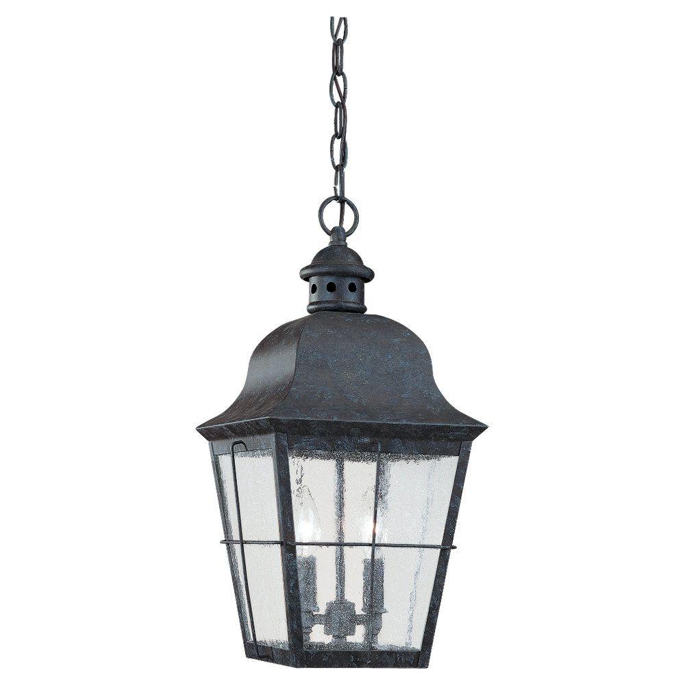Sea Gull Lighting 2-Light Oxidized Bronze Outdoor Pendant