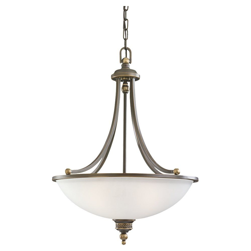 3 lumières immobilier Bronze Pendentif à incandescence