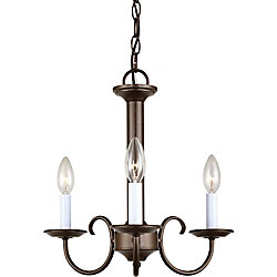 Sea Gull Lighting 3 Light Bell Metal Bronze Incandescent Chandelier