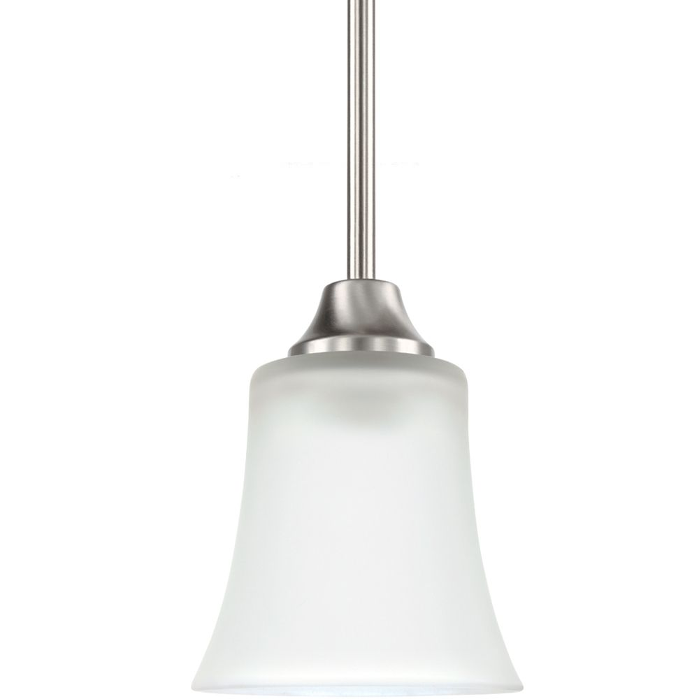 1 Lumière brossé Nickel Pendant Fluorescent