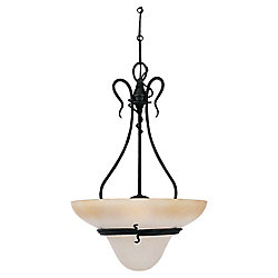 Sea Gull Lighting 3-Light Forged Iron Pendant
