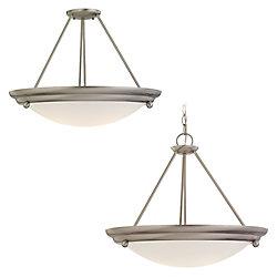 Sea Gull Lighting 3-Light Brushed Stainless Pendant