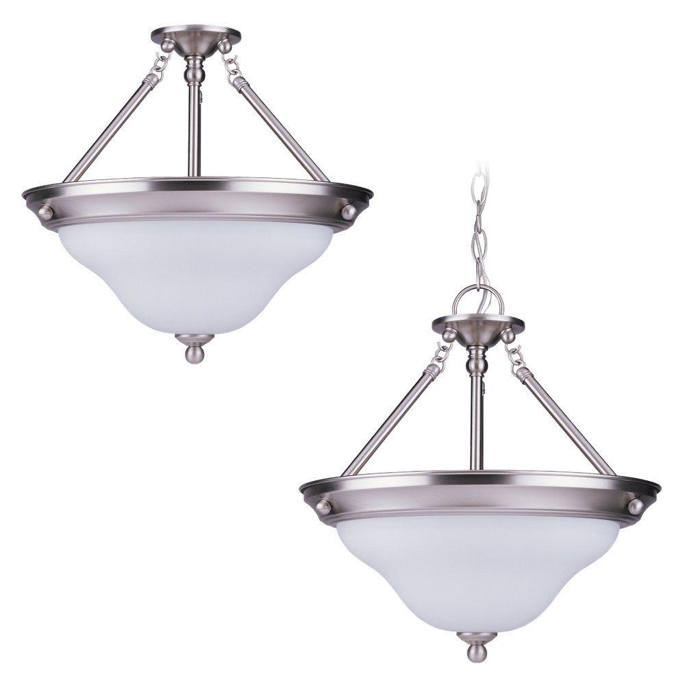 3-Light Brushed Nickel Pendant