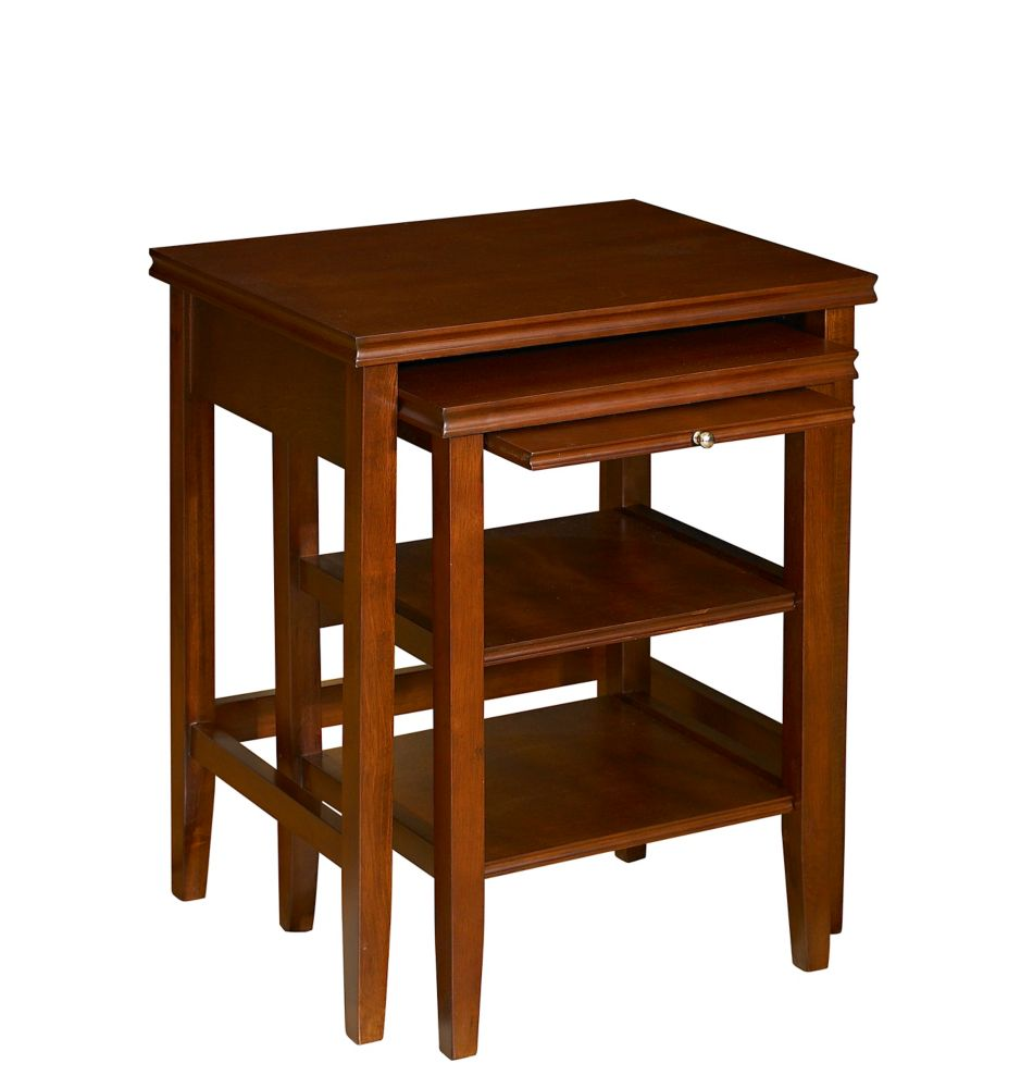 Powell Deux tables gigognes Shelburne de couleur cerise