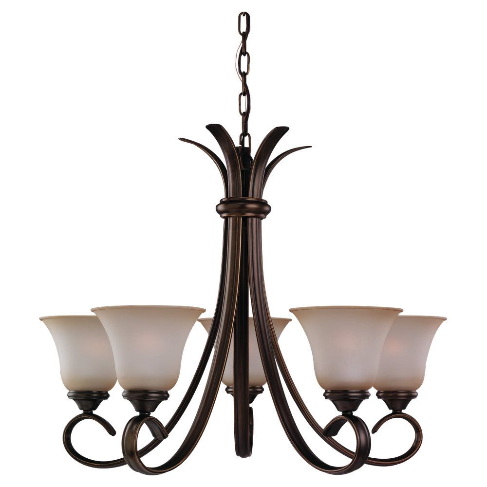 5-Light Russet Bronze Chandelier