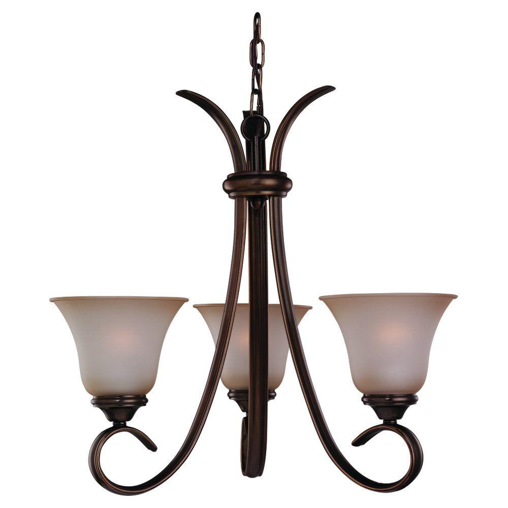 3-Light Russet Bronze Chandelier