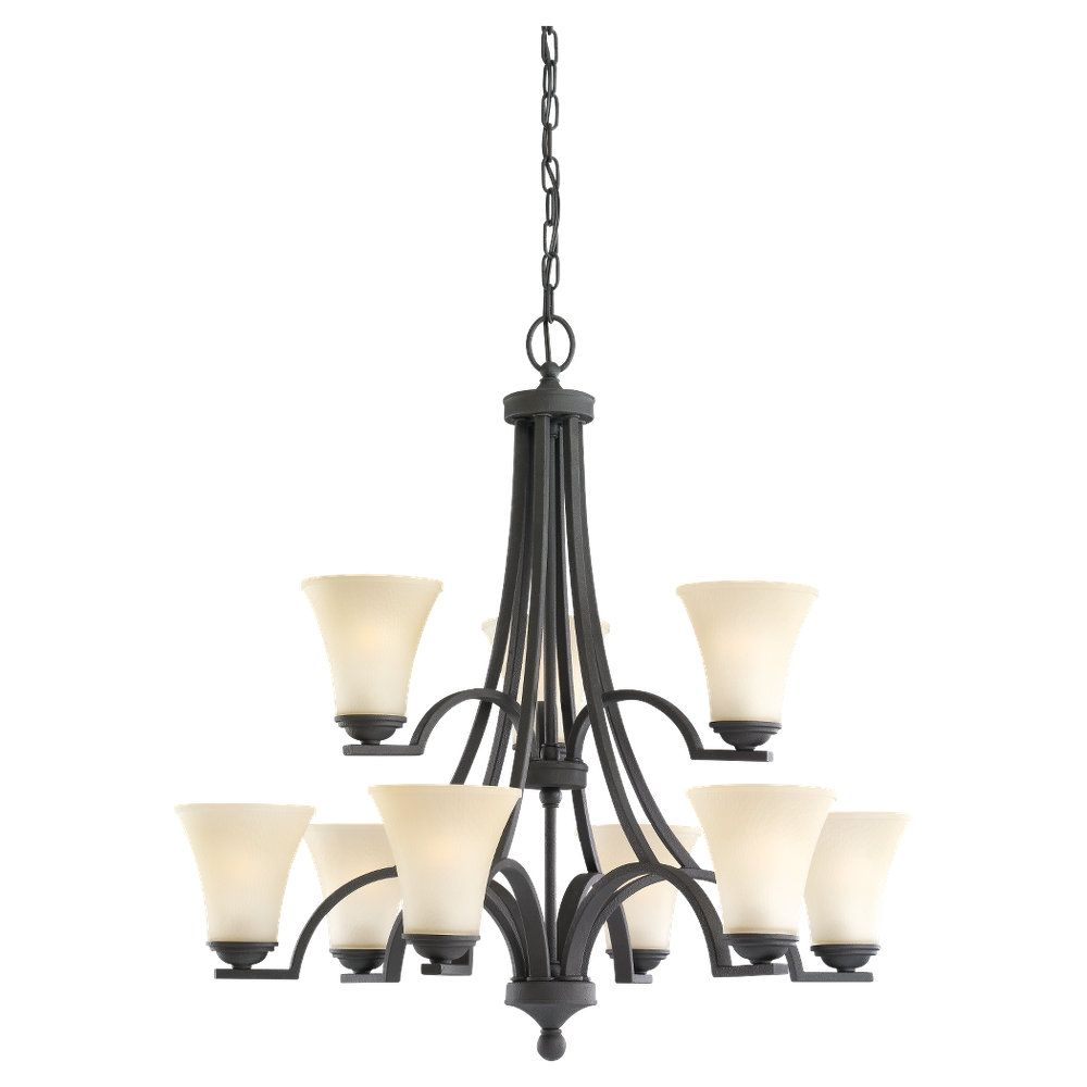 9 Light Blacksmith Incandescent Chandelier
