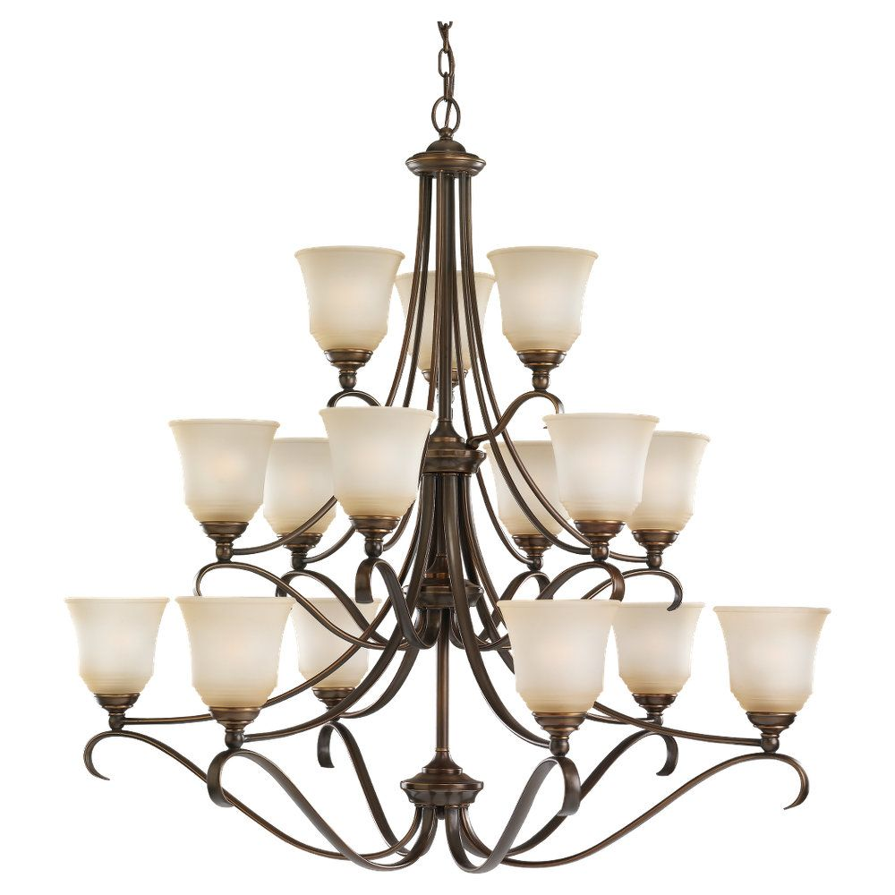 15 Light Russet Bronze Incandescent Chandelier