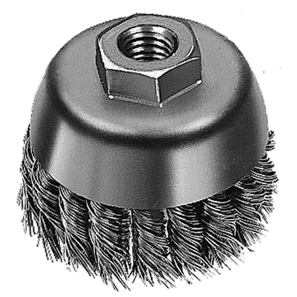 3-inch Hyperwire� Knot Wire Cup Brush in Carbon Steel