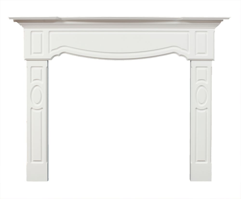 Cartier Mantel Kit White Painted Finish - 72 Inches Wide x 54 Inches High