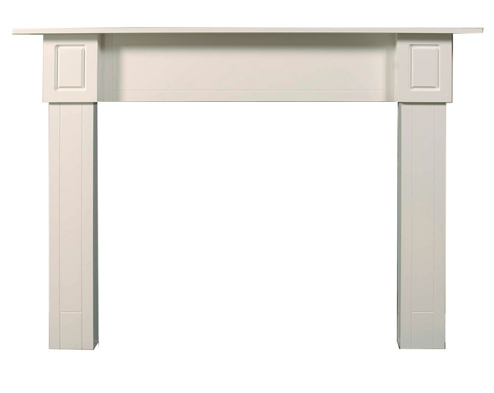 Contemporary Mantel Kit White Painted Finish - 72 Inches Wide x 51-3/4 Inches High