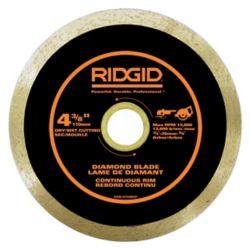 RIDGID 4-3/8 Inch Continuous Rim Diamond Blade