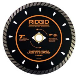 RIDGID 7 Inch Turbo Diamond Blade