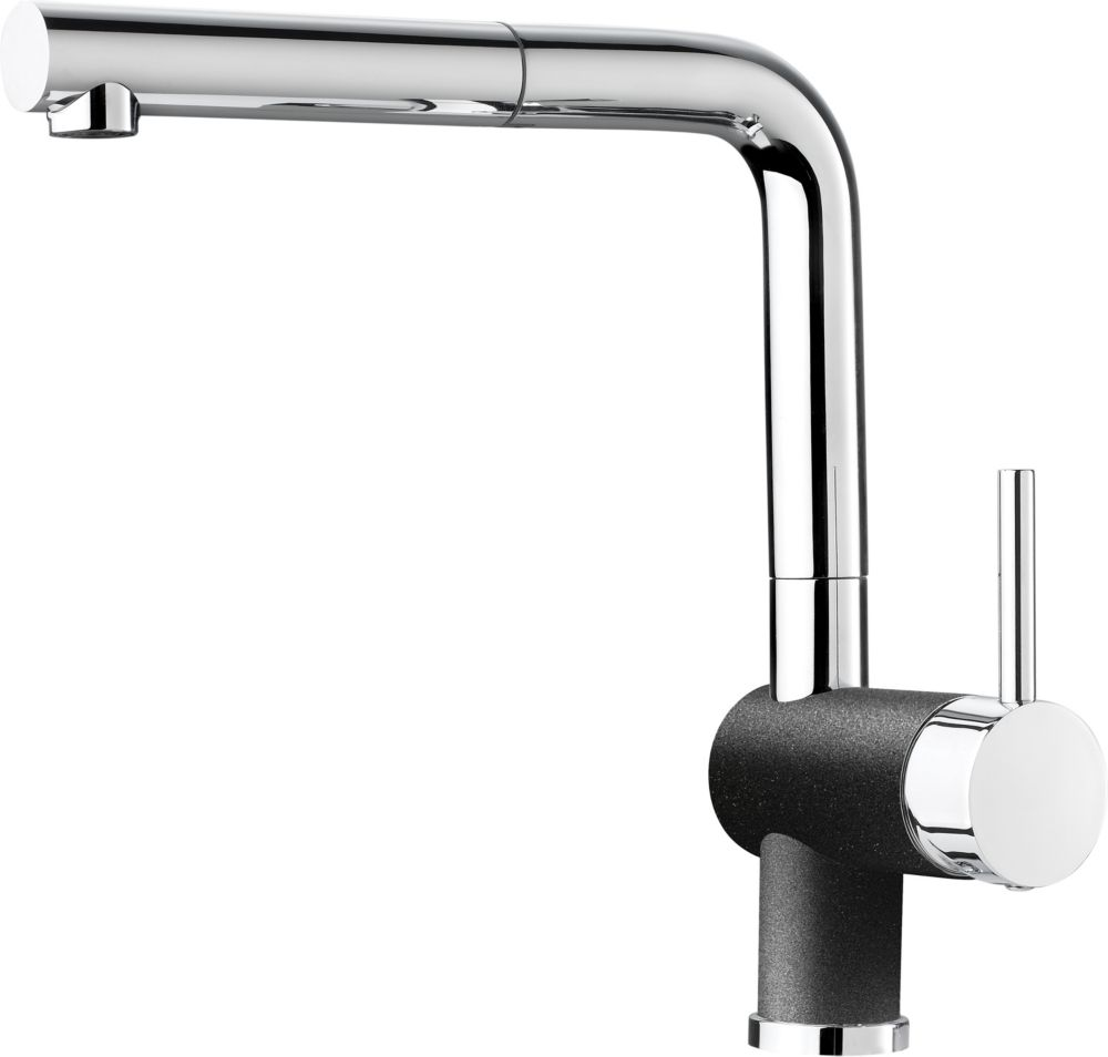 Single-Lever Pull-Out Faucet, Chrome/Anthracite