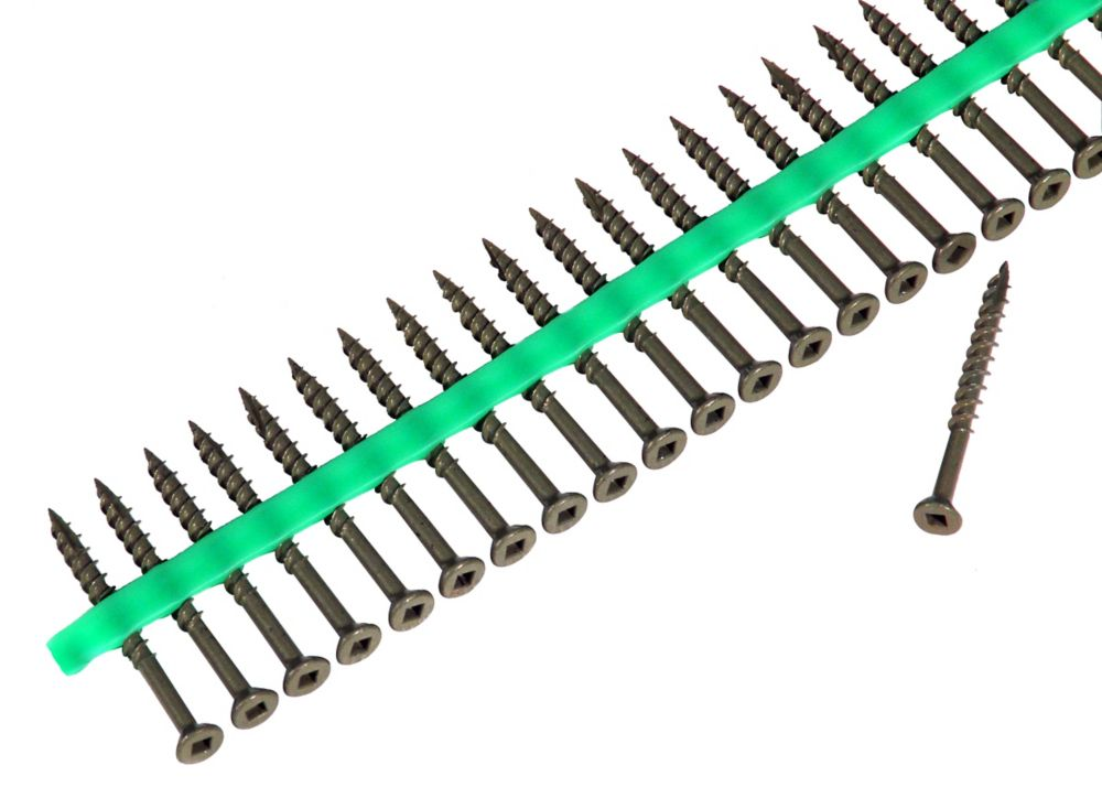 Muro Auto Feed #8 x 2 in. Flat-Head Square Drive Deck Screws (1,800/Pack)