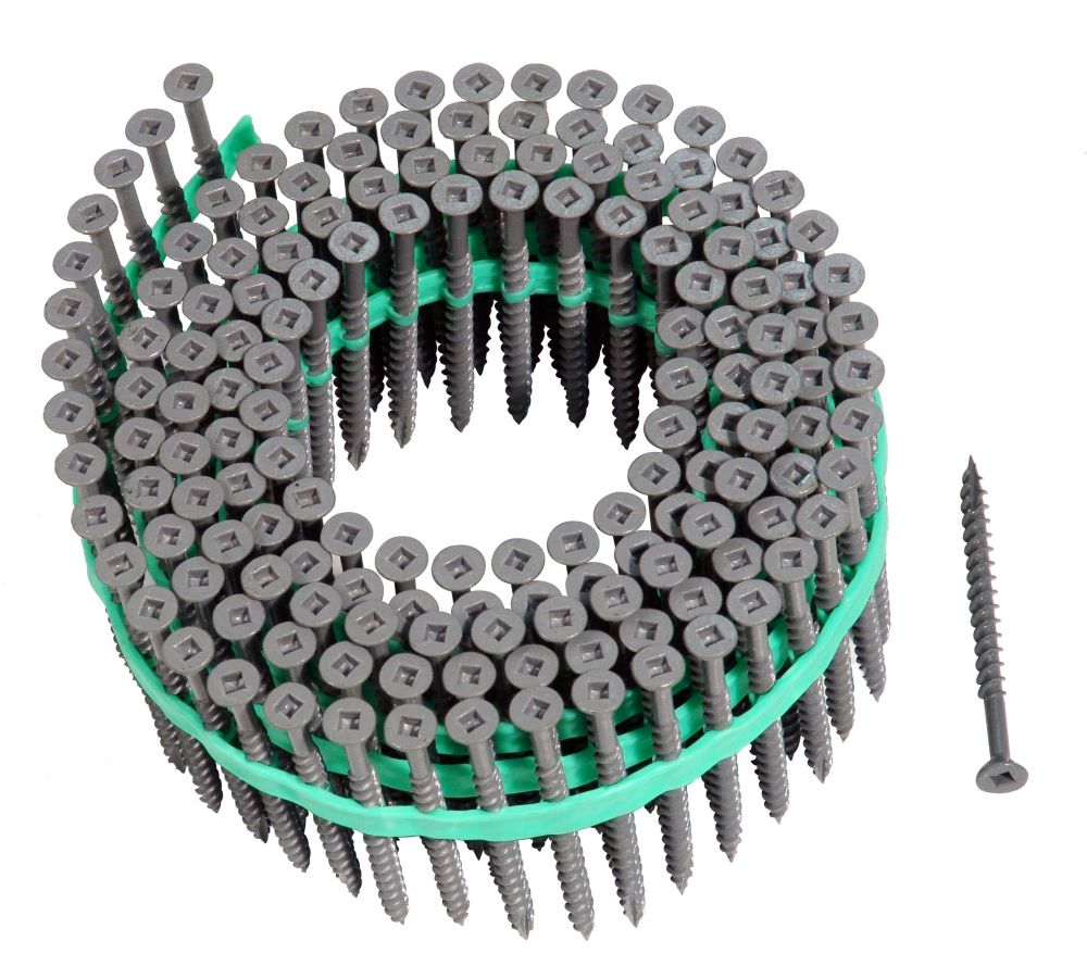 Muro Muro Auto Feed #8 x 2-1/2 in. Stainless Steel Flat-Head Square Drive Deck Screws (1,800/Pack)