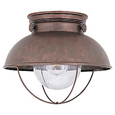 Sebring 1-Light Weathered Copper Outdoor Ceiling Fixture